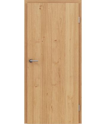 Furnierte Innentür mit längsverlaufender Struktur GREENline – Eiche astig naturlackiert