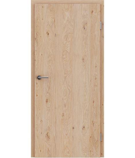 Furnierte Innentür mit längsverlaufender Struktur GREENline – Eiche astig gebürstet weiß-geölt