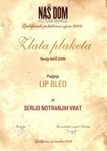 Picture of Goldene Plakette der Zeitschrift NAŠ DOM – Wohnkultur