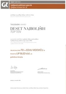 """Picture of Drei Auszeichnungen """"AMELIA 2006"""" für unsere Massivholzmöbel-Produktpalette"""