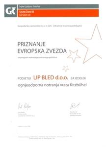 """Picture of 1. Preis """"der Europäische Stern 2008"""" für das Türmodell Kitzbühl"""