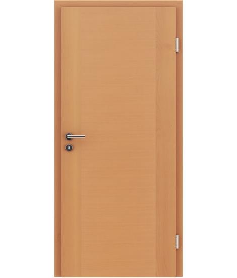 Furnierte Innentür mit einer Kombination aus längs- und/oder querverlaufenden Strukturen VIVACEline – F1 Buche lackiert