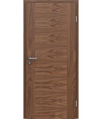 furnirana notranja vrata s kombinirano pokončno in prečno strukturo VIVACEline - F1 oreh