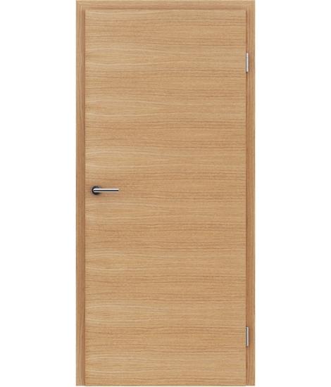 Furnierte Innentür mit einer Kombination aus längs- und/oder querverlaufenden Strukturen VIVACEline – F4 europäische Eiche gebürstet geölt