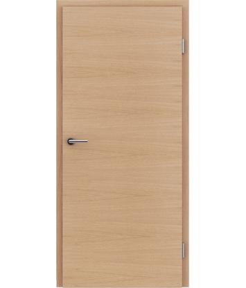 Furnierte Innentür mit einer Kombination aus längs- und/oder querverlaufenden Strukturen VIVACEline – F4 europäische Eiche matt gebeizt lackiert
