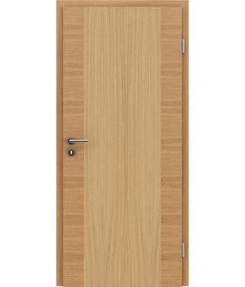 Furnierte Innentür mit einer Kombination aus längs- und/oder querverlaufenden Strukturen VIVACEline – F14 europäische Eiche naturlackiert