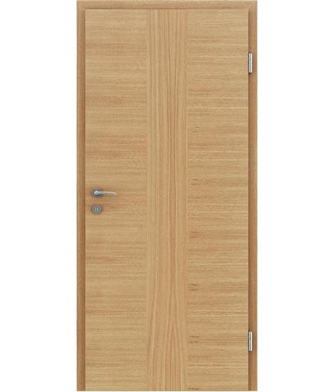Furnierte Innentür mit einer Kombination aus längs- und/oder querverlaufenden Strukturen VIVACEline – F41 Eiche Einlage Eiche