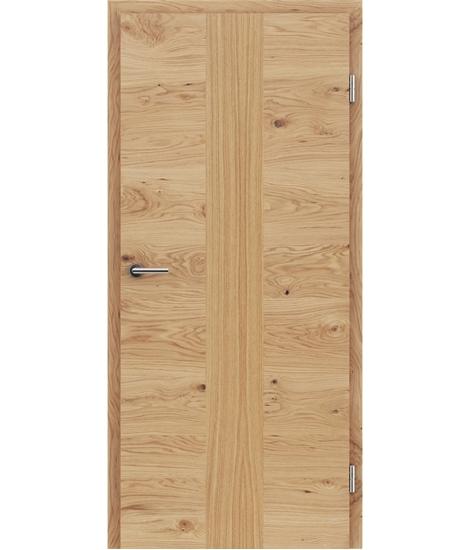 Furnierte Innentür mit einer Kombination aus längs- und/oder querverlaufenden Strukturen VIVACEline – F41 Eiche astig Einlage Eiche