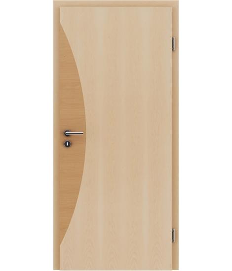 Furnierte Innentür mit Intarsieneinlagen HIGHline – I3 Ahorn, Intarsieneinlage Erle