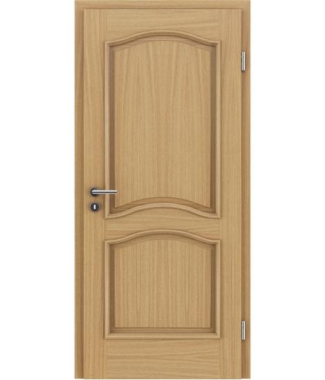 Furnierte Innentür mit dekorativen Leisten und Verglasung NAPOLEON STILline – SNC europäische Eiche