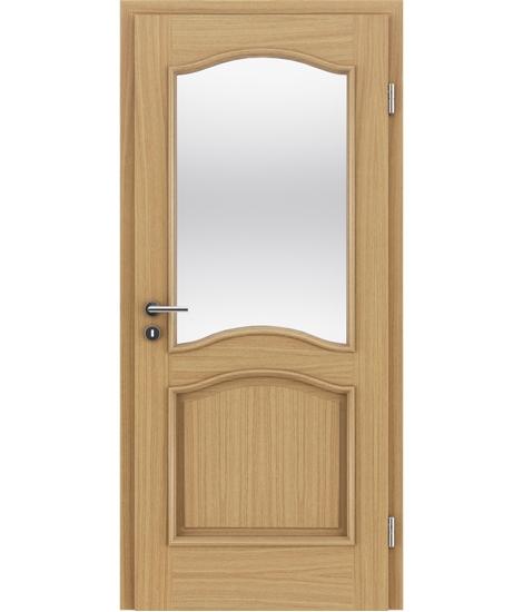 Furnierte Innentür mit dekorativen Leisten und Verglasung NAPOLEON STILline – SNC SN3 europäische Eiche