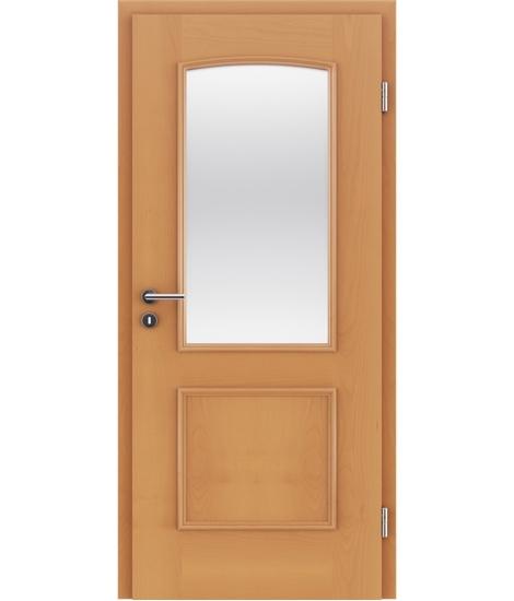 Furnierte Innentür mit dekorativen Leisten und Verglasung STILline – SOA SO3 Buche
