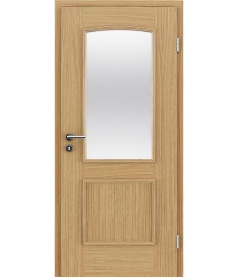Furnierte Innentür mit dekorativen Leisten und Verglasung STILline – SOA SO3 europäische Eiche