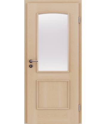 Picture of Furnierte Innentür mit dekorativen Leisten und Verglasung STILline – SOA SO3 Ahorn