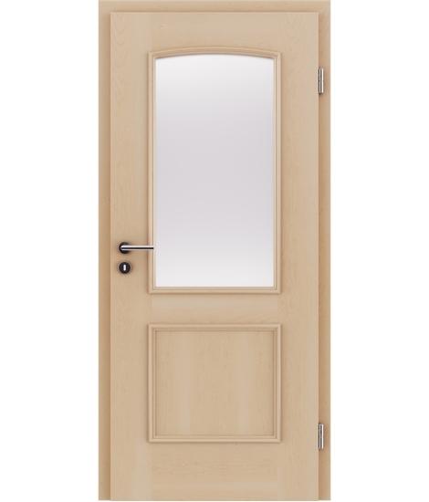 Furnierte Innentür mit dekorativen Leisten und Verglasung STILline – SOA SO3 Ahorn