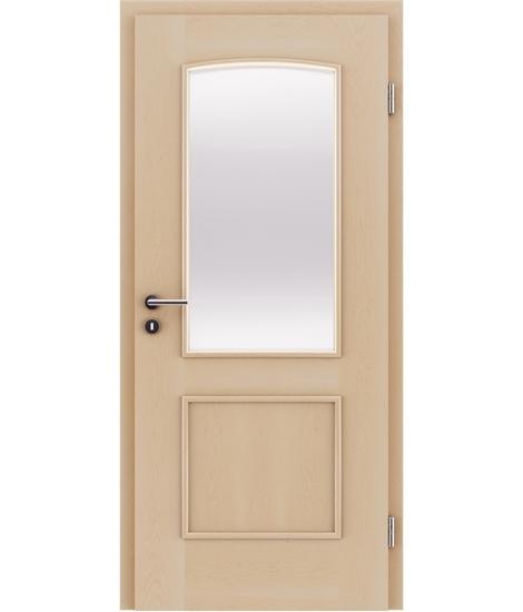 Furnierte Innentür mit dekorativen Leisten und Verglasung STILline – SOAD SO3 Ahorn