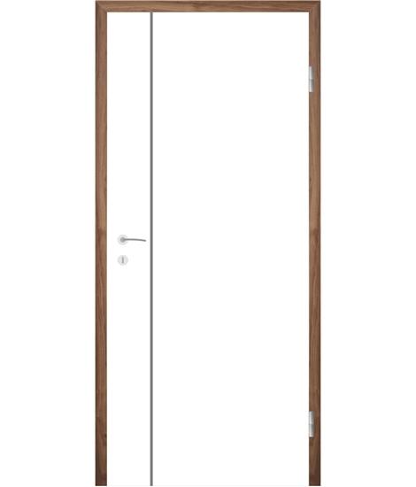 Weißlackierte Innentür mit Rillenfräsungen COLORline – MODENA R16L