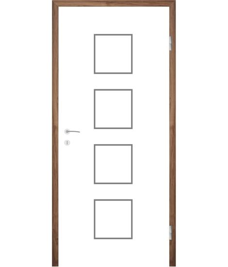Weißlackierte Innentür mit Rillenfräsungen COLORline – MODENA R23L