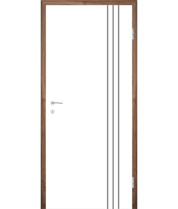 Picture of Weißlackierte Innentür mit Rillenfräsungen COLORline – MODENA R36L