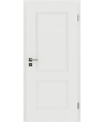 Weißlackierte Innentür mit reliefartiger Oberfläche KAISERline – R38L weißlackiert