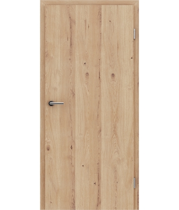 Furnierte Innentür mit längsverlaufender Struktur GREENline - Eiche astig rissig gebürstet matt gebeizt lackiert