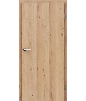 Picture of Furnierte Innentür mit längsverlaufender Struktur GREENline - Eiche astig rissig matt gebeizt lackiert