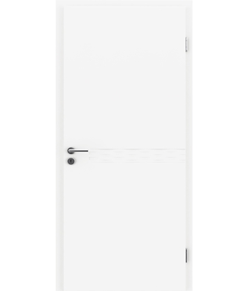 Weißlackierte Innentür COLORline – EASY R29L