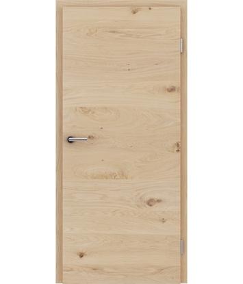 Furnierte Innentür mit einer Kombination aus längs- und/oder querverlaufenden Strukturen VIVACEline - F4 Eiche astig weiß-geölt