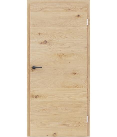 Furnierte Innentür mit einer Kombination aus längs- und/oder querverlaufenden Strukturen VIVACEline - F4 Eiche astig gebürstet weiß-geölt