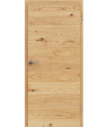 Picture of Furnierte Innentür mit einer Kombination aus längs- und/oder querverlaufenden Strukturen VIVACEline - F4 Eiche astig gebürstet geölt