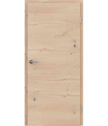 Furnierte Innentür mit einer Kombination aus längs- und/oder querverlaufenden Strukturen VIVACEline - F4 Eiche astig rissig weiß-geölt