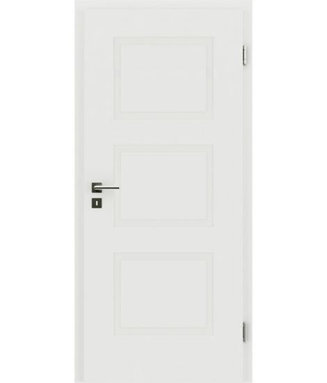 Weißlackierte Innentür mit reliefartiger Oberfläche KAISERline – R49L, weißlackiert
