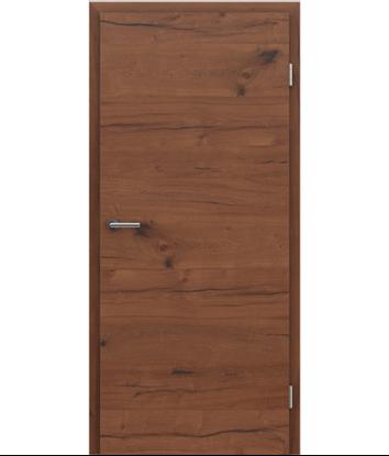 Furnierte Innentür mit einer Kombination aus längs- und/oder querverlaufenden Strukturen VIVACEline PRESTIGE - F4 Altholz natur geölt